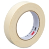 "3M 200 Paper Tape - 0.94"" Width x 60 yd Length - 3"" Core - Crepe Paper Backing - Easy Tear, Pressure Sensitive - 36 Roll - Tan"