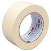 "3M 200 Paper Tape - 1.88"" Width x 60 yd Length - 3"" Core - Crepe Paper Backing - Easy Tear, Pressure Sensitive - 24 Roll - Tan"