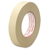 "Scotch Performance Masking Tape - 0.94"" Width x 60 yd Length - 3"" Core - Synthetic Rubber - Crepe Paper Backing - Adhesive, Easy Tear, Pressure Sensitive, Residue-free - 36 Roll - Tan"