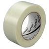 "Scotch Filament Tape - 1.88"" Width x 60 yd Length - 3"" Core - Synthetic Rubber - Glass Yarn Backing - 24 / Carton - Clear"