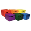 "Classroom Keepers Storage Tote Assortment - External Dimensions: 12.3"" Width x 15.3"" Depth x 10.1"" Height - Stackable - Assorted, Red, Yellow, Green, Purple, Orange - For File Folder, Hanging Folder -"