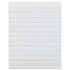"Zaner-Bloser Broken Midline Sulphite Paper - 500 Sheets - Printed - 10.50"" x 8"" - White Paper - 500 / Pack"