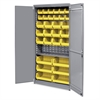 "Akro-Mils AkroBin Storage Bin Cabinet - 12 Compartment(s) - Compartment Size 5"" x 5.50"" x 10.88"" - 78"" Height x 36"" Width x 19"" Depth - Floor - Gray - Steel - 1Each"