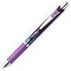 EnerGel Needle Tip Liquid Gel Ink Pens - Fine Point Type - 0.5 mm Point Size - Needle Point Style - Refillable - Violet Gel-based Ink - Stainless Steel Barrel - 1 Each