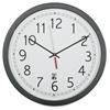"SKILCRAFT 16.5"" Round SelfSet Wall Clock - Analog - Quartz"