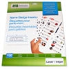 "Laser/Inkjet Badge Insert - 3"" x 1"" - 100 / Pack - White"