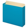"""Globe-Weis Heavy-duty File Cabinet Pocket - Letter - 8.50"""" x 11"""" Sheet Size - 875 Sheet Capacity - 3.50"""" Expansion - 22 pt. Folder Thickness - Tyvek - Blue - Recycled - 10 / Box"""