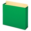 "TOPS Heavy-duty File Cabinet Pocket - Letter - 8.50"" x 11"" Sheet Size - 875 Sheet Capacity - 3.50"" Expansion - 22 pt. Folder Thickness - Tyvek - Green - Recycled - 10 / Box"