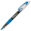 Pen-style Liquid Ink Highlighters - Chisel Point Style - Fluorescent Blue Pigment-based Ink - 1 Dozen