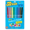 Mr. Sketch Stix Scented Markers - Fine Point Type - Bullet Point Style - Black, Red, Blue, Green, Yellow, Orange, Brown, Purple, Pink, Turquoise Blue Water Based Ink - 10 / Set