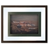 Nature Quotes Motivational Prints Frame - Desktop, Wall Mountable - Wood, Glass - Black