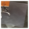 "Biobased Hard Floor Clear Chairmat - Hard Floor, Tile Floor, Wood Floor, Home, Office - 48"" Length x 36"" Width - Rectangle - Polymer - Clear"