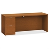 "HON Valido Series Bourbon Cherry Laminate Desking - 72"" x 24"" x 29.5"" - 2 x File Drawer(s) - Single Pedestal on Left Side - Ribbon Edge - Material: Particleboard - Finish: Laminate, Bourbon Cherry"