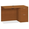"HON Valido Series Bourbon Cherry Laminate Desking - 48"" x 24"" x 29.5"" - 2 x File Drawer(s) - Single Pedestal on Right Side - Ribbon Edge - Material: Particleboard - Finish: Laminate, Bourbon Cherry"
