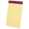 """Ampad Gold Fibre Premium Jr. Legal Writing Pads - 50 Sheets - Watermark - Stapled/Glued - 16 lb Basis Weight - 5"""" x 8"""" - Canary Paper - 12 / Dozen"""