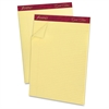 """Ampad Gold Fibre Narrow Ruled Prem. Writing Pads - 50 Sheets - Watermark - Stapled/Glued - 16 lb Basis Weight - Letter 8.50"""" x 11.75"""" - Canary Yellow Paper - 12 / Dozen"""