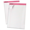"""TOPS Breast Cancer Awareness Writing Pads - 50 Sheets - Printed - 20 lb Basis Weight - Letter 8.50"""" x 11"""" - White Paper - 6 / Pack"""