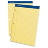 "Perforated Ruled Pads - 50 Sheets - Printed - Stapled - 8.50"" x 11.75"" - 1Dozen"