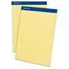 "Perforated Ruled Pads - 50 Sheets - Printed - Stapled - 15 lb Basis Weight - Letter 8.50"" x 11"" - Canary Paper - 1Dozen"