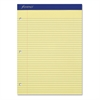 "Perforated 3HP Ruled Double Sheet Pads - 100 Sheets - Printed - 15 lb Basis Weight - Letter 8.50"" x 11"" - Canary Yellow Paper - 100 / Pad"