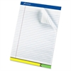 "Ampad EZ Flag Writing Pad - 50 Sheets - Printed - 15 lb Basis Weight - Letter 8.50"" x 11"" - White Paper - 1Each"