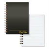 "Gold Fibre Personal Compact Notebook - 130 Sheets - Printed - Spiral - 20 lb Basis Weight 7"" x 5"" - White Paper - Gray Cover - Kraft Cover - 1Each"