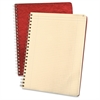 "Retro Computation Notebook - 75 Sheets - Printed - Double Wire Spiral - 24 lb Basis Weight 9.25"" x 11.75"" - Ivory Paper - Red Cover - Pressboard Cover - 1Each"