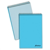 "Pastel Steno Notebook - 80 Sheets - Printed - Wire Bound - Front Ruling Surface - 20 lb Basis Weight 6"" x 9"" - Blue Paper - Blue Cover - 1Each"