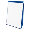 "TOPS Evidence Recycled Table Top Flip Chart - 20 Sheets - Plain - 15 lb Basis Weight 20"" x 28"" - White Paper - Blue Cover - 1Each"
