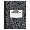 Oxford Quad Rule Composition Book - 80 Sheets - Printed - White Paper - Black Cover Marble - Durable, Mediumweight - 1Each