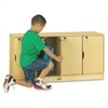 "Jonti-Craft Single Stack 4-Section Student Lockers - 48.5"" x 15"" x 23.5"" - Stackable, Lockable, Sturdy, Key Lock, Kick Plate - Wood Grain - Baltic Birch Plywood"