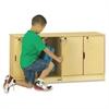 "Single Stack 4-Section Student Lockers - 48.5"" x 15"" x 23.5"" - Stackable, Lockable, Sturdy, Key Lock, Kick Plate - Wood Grain - Baltic Birch Plywood"