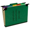 "Hanging Personnel Classification Folders - Letter - 8.50"" x 11"" Sheet Size - 2"" Expansion - 1"" Fastener Capacity - 1/3 Tab Cut - Top Tab Location - 5 Divider(s) - Pressguard - Green - Recycl"