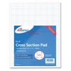 "Ampad Tops Cross-section Quadrille Pads - 50 Sheets - Printed - 20 lb Basis Weight - Letter 8.50"" x 11"" - White Paper - 40 / Pad"