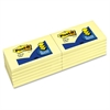 """Post-it Pop-up Notes, 3 in x 5 in, Canary Yellow - 1200 x Canary Yellow - 3"""" x 5"""" - Rectangle - 100 Sheets per Pad - Unruled - Canary Yellow - Paper - Self-adhesive, Repositionable - 12 Pad"""