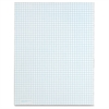 "TOPS White Quadrille Pads - 50 Sheets - Printed - Glue - 15 lb Basis Weight - Letter 8.50"" x 11"" - White Paper - 1Dozen"