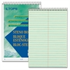 "TOPS Green Tint Steno Books - 80 Sheets - Printed - Coilock - 15 lb Basis Weight 6"" x 9"" - Green Tint Paper - Green, White, Blue Cover - 1Dozen"