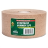 "Duck Brand 375' Reinforced Gummed Tape Roll - 2.75"" Width x 125 yd Length - Kraft - Kraft Paper Backing - Heavy Duty, Reinforced - 8 / Carton - Brown"