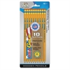The Board Dudes USA Gold No.2 Wooden Pencils - 2HB Lead Degree (Hardness) - Graphite Lead - Yellow Cedar Wood Barrel - 10 / Pack