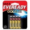 Eveready Gold Alkaline AAA Batteries - AAA - Alkaline - 192 / Carton