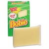 "Scotch-Brite -Brite Dobie All-purpose Cleaning Pads - 0.5"" Height x 2.6"" Width x 4.3"" Depth - 24/Carton - Polyurethane - Yellow"
