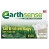 "Earth Sense 13-gal Tall Kitchen Bags - Medium Size - 13 gal - 23.50"" Width x 29.75"" Length x 0.70 mil (18 Micron) Thickness - Low Density - 540/Carton - 90 Per Box"