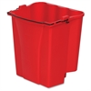 "Rubbermaid Commercial WaveBrake 18qt Dirty Water Bucket - 18 quart - Tubular Steel, Plastic - 14.1"" x 9.9"" - Red"