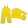 River City Three-piece Rainsuit - Recommended for: Agriculture, Construction, Transportation, Sanitation, Carpentry, Landscaping - Large Size - Water Protection - Snap Closure - Polyester, Polyvinyl C