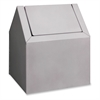 "Impact Products Freestanding Sanitary Disposal - Swing Lid - Freestanding - 11.5"" Height x 9.4"" Width x 9"" Depth - Metal - White"