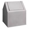 "Freestanding Sanitary Disposal - Swing Lid - Freestanding - 11.5"" Height x 9.4"" Width x 9"" Depth - Metal - White"
