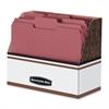 Folder Holder - Letter - Wood Grain, White - 1 Each
