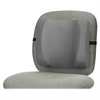 "Fellowes Standard Backrest - Graphite - Adjustable Strap - 13"" x 4"" x 12"" - Graphite"
