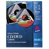 Inkjet Glossy CD/DVD Labels - - Length2 / Sheet - Circle - Inkjet - White - 20 / Pack