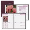 "At-A-Glance Weekly/Monthly Floral Appointment Book - Julian - Weekly, Monthly - 1 Year - January 2017 till December 2017 - 1 Week, 1 Month Double Page Layout - 8.25"" x 10"" - Wire Bound - Burgundy - Ad"